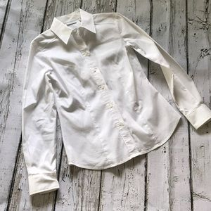 NY&Co stretch white cotton fitted shirt